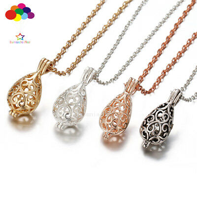 Diffuser Dripping Pattern Necklace Lockets Perfume Essential Oil Aromatherapy