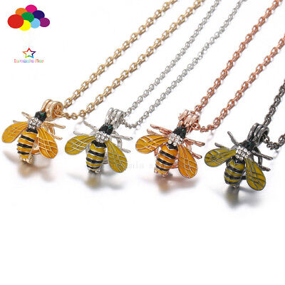 New Aroma Diffuser King bee Necklace Lockets Perfume Essential Oil Aromatherapy