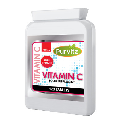 Vitamin C 1000MG Time Release With Citrus Rosehip + Bioflavonoids Tablets UK