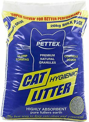 Pettex Premium Clumping Cat Litter 20kg - Highly Absorbent Clump Forming Litter