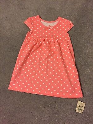 George At ASDA Coral Spotty Baby Girl Dress - 12-18 Months - Tags On