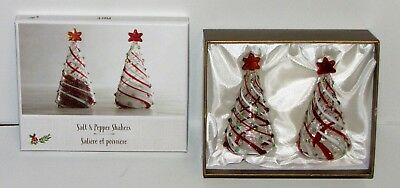 Pier 1 Glass Tree Salt & Pepper Shaker Boxed Set