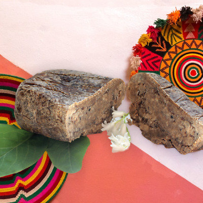 SALE! 200g (100x2) Pure African Black Soap-Organic,Natural,Hand Made in GHANA.