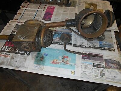 2 antique Carriage Lamps for Restoration and pair of mounting brackets