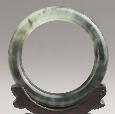 China natural jade bracelet hand carved bangle NO.E958