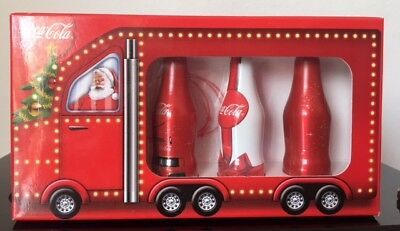 Coca Cola Mini Aluminum Bottles 3 Full Set Christmas SPAIN Very RARE