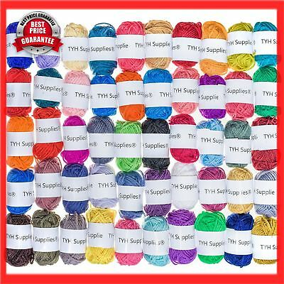 Supplies 50 Skeins Acrylic Yarn Assorted Color Perfect Knitting Crochet Project