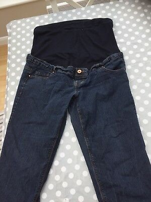 New look Maternity Bootcut Over Bump Jeans Size 14 36 Inch Leg Tall