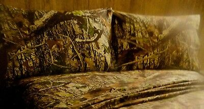 New 2 pc CAMO~PILLOW CASE SET~Fishing~Hunting Cabin~LODGE Brown Tans camouflage