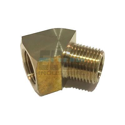"MaxLine Rapid Air 45 Degree 1/2"" NPT Pipe Thread Brass Street Elbow Fitting New"