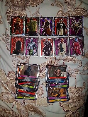 Topps Hero Attax Cards x 40. Includes RARE and Shiny / Holo.