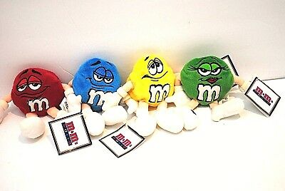 M&M World Las Vegas Collectible Plush Bean Bag Set Blue,Green,Red,& Yellow NWT