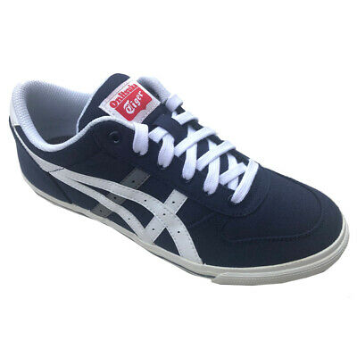 Onitsuka Tiger ASICS AARON GS Blue Pump Trainers Navy/White UK3 - UK6 Youths
