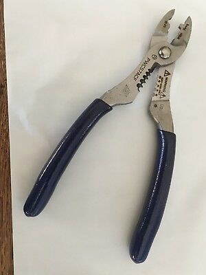 New Snap On  PWCS7ACF Blue Colored Wire Cutter, Stripper And Crimper Pliers.