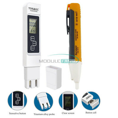Multifunctional 3 In 1 TDS EC PPM LCD Display Water Quality Tester Pen Meter