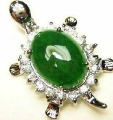 New Lucky 18KGP Crystal Turtle Pendant+Free Necklace