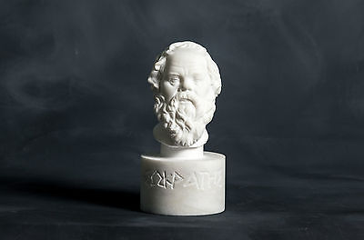 MARBLE bust of Philosopher Socrates carved Greek statue figurine sculpture