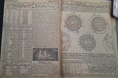 India Very Old Interesting Arabic/urdu Litho Print Book, 43 Leaves-86 Pages.