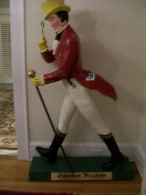 Johnnie Walker Life Size Advertising Figure Statue Authentic And Fully Restored
