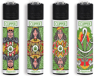 Clipper Large 4 Twenty Collection Clipper  Poker Weed  - Limited Edition 4Pz