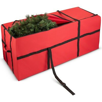Zober Christmas Tree Storage Bag Fits Up To 9ft Tree For Christmas Storage - Red