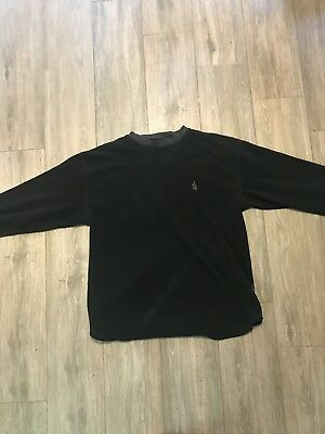 Vintage 90S Nautica Fleece Crew Neck Sweatshirt Black