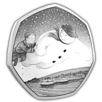 2018 Snowman 50p Fifty Pence BU Coin Raymond Briggs FOR PRE ORDER ONLY