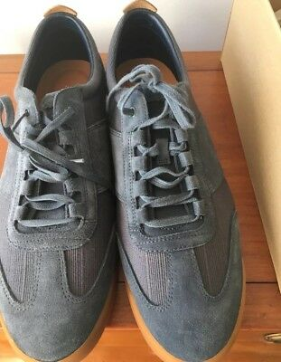 CLARKS Blue Suede Trainers (size 11) - Immaculate