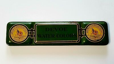American DEVOE & RAYNOLDS Water Color Paint Tray Tin NEW YORK Chicago VINTAGE