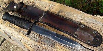 Wwii Us M3 Fighting Knife Blade Marked Case 1943  M6 Sheath