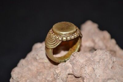 Roman / Byzantine Ancient Artifact Bronze Massive Legionary Ring *Magnificient*