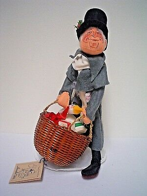 AnnaLee Mobility Doll Vintage Dickens Scrooge Doll with Basket