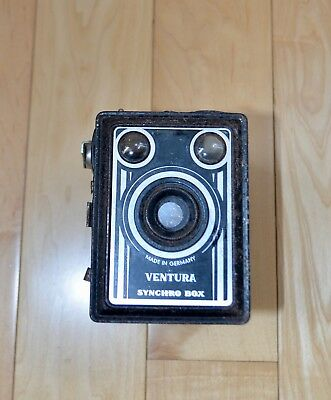 Vintage Ventura SYNCHRO BOX camera 1940's-50's UNTESTED made in Germany
