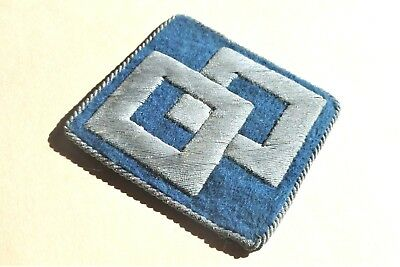 Bullion 2nd Service Command German Theater Made Hand Embroidered Patch