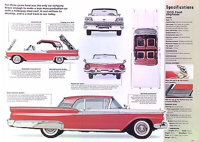 1959 Ford Fairlane Skyliner Retractable Hardtop 352 ci 300 hp Info/Specs/photo