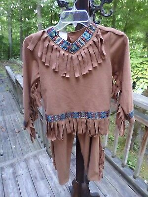Indian Two Piece Halloween Costume, Boys Size 6