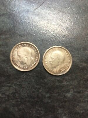 Silver Threepence  X 2