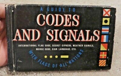 A Guide to Codes and Signals book  Gordon Petersen 1942 WWII