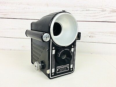 VINTAGE SPARTUS PRESS FLASH CAMERA with Out Bulb Untested Made In USA