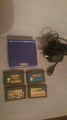 Nintendo game boy advance sp in excellent condition with games & charger