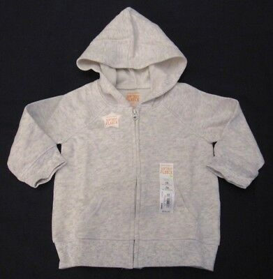 Jumping Beans Boys Girls Size 12 or 24 months Heather Gray Hoodie New