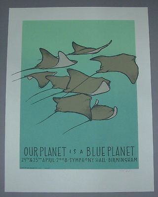 Jay Ryan Blue Planet Birmingham Poster Print Signed Numbered BBC 2008