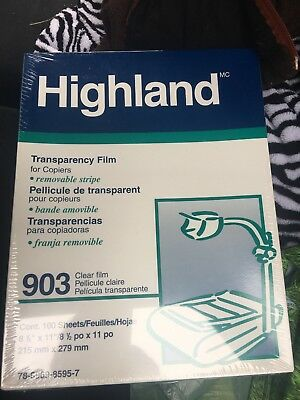 3M 903 Transparency Film with Removable Sensing Stripe 100 Count NEW worn packag