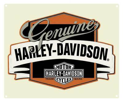 Harley-Davidson Genuine H-D Banner Tin Metal Sign 14 x 17 Inch  2010241