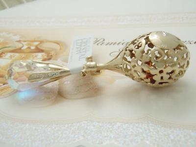 Personalised New Born Baby Boy Girl Christening Gift Silver Rattle Natural Amber