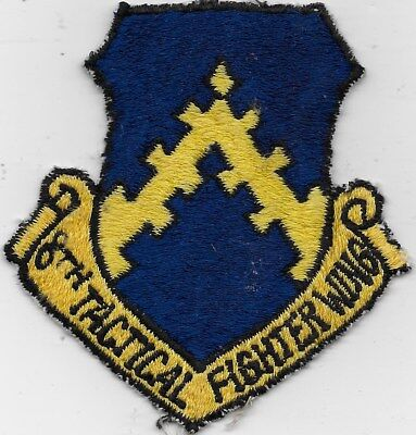 """Rare Original Kw """"8Th Tactical Fighter Wing"""" Patch - Fully Embroidered"""