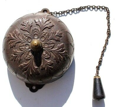 Antique Vintage Circa Late 1800s Victorian Cast Iron Pull Chain Doorbell - Parts