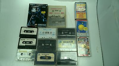 14 x Commodore 64 Game Cassettes some in cases #811
