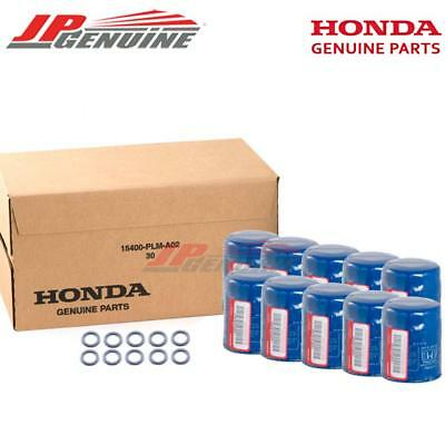 ~ Set Of 10 ~ Honda Genuine Oem Engine Oil Filters + Drain Washers 15400-Plm-A02