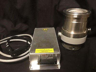 TESTED Pfeiffer TMH 260 and TCP 120 Vacuum Turbo Pump with Controller and Cables